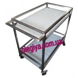Тележка 2 уровня для перевозки стерилизационных коробок