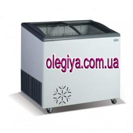 Скриня морозильна 250 л (зі скляною ковзаючою гнутою кришкою)