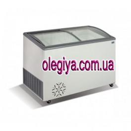 Скриня морозильна 350 л (зі скляною ковзаючою гнутою кришкою)