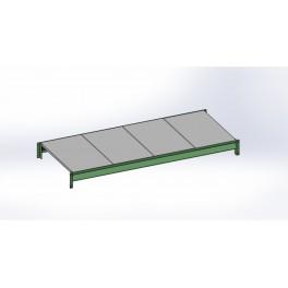 Полка (уровень) для стеллажа складского 1000*1000мм.