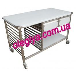 Стол производственный с выдвижными ящиками и направляющими