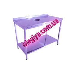 Production table with bottom shelf and w...