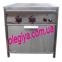 Островная плита электрическая 4-х конфорочная с духовкой
