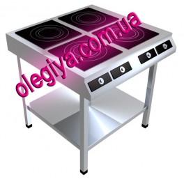 Плиты индукционные 4-х конфорочные  (10 кВт)