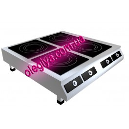 Плиты индукционные 4-х конфорочные настольные (10 кВт)