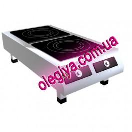 Плита индукционная 2-х конфорочная   (5 кВт)