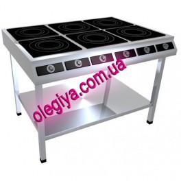 Плита индукционная 6-ти конфорочная (21 кВт)